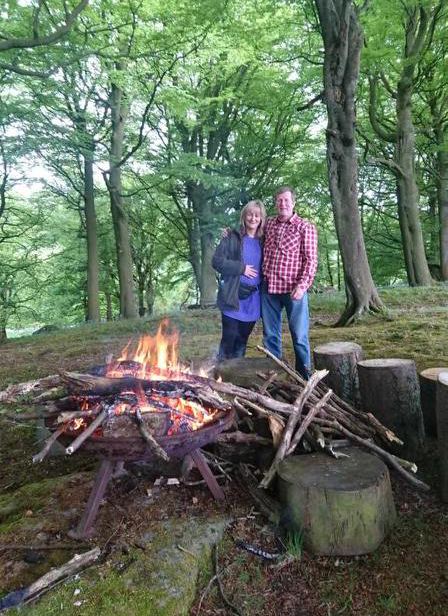 Peter and Michelle at Fishpond Wood - Fishpond Wood, Bewerley, Nidderdale